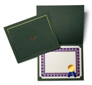 Hunter Green Certificate Jacket (A4)