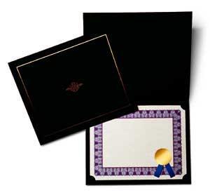 Ebony Certificate Jacket (A4)