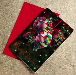 Around The World Christmas Card