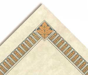 Certificate Border Teal Blue/Tan