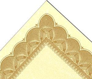 Gold On Vellum Certificate