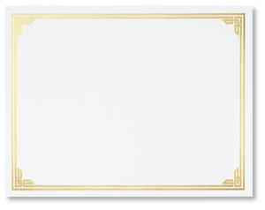 gold certificate borders