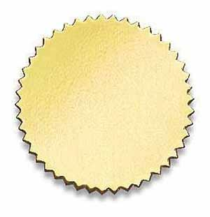 Certificate Seal Plain Gold