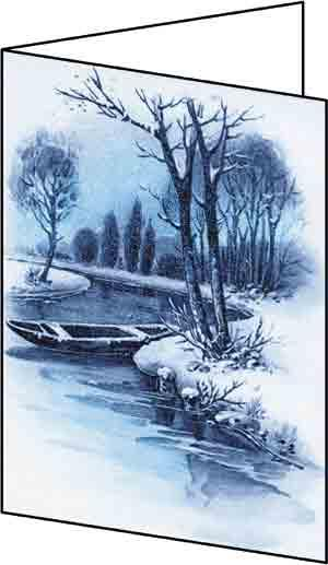 Romantic River Glossy Christmas Cards (A6)