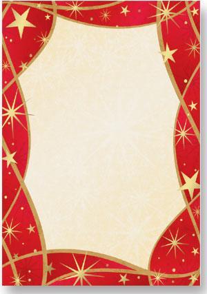 Festive Starlight A4 Theme Paper