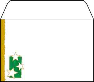 Christmas Stars C6 Envelopes
