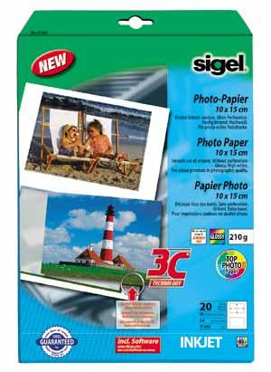 High White Glossy Photo Inkjet Paper (10 Sheets