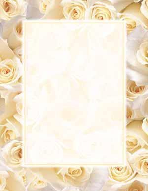 Cream Roses Theme Paper