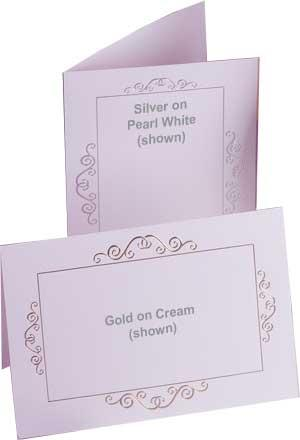 Blue On Pearl White Invitations Only