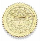 Certificate Seal Excellence - Gold