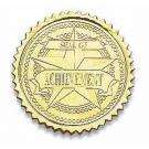 Achievement Certificate Seals - Gold