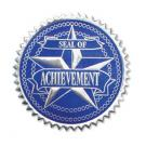Achievement Certificate Seals - Blue/Silver