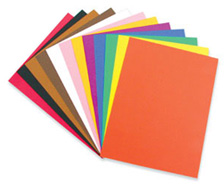 Coloured printed paper